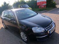 VW VOLKSWAGEN GOLF 1.9 DIESEL ESTATE AUTOMATIC 2009 1 FORMER OWNER NEW MOT FU...