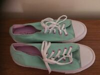 Green lace up trainer size 6 from Next