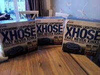 X Hose 100ft expanding lightweight hose pipe x 3