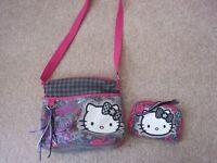 Hello Kitty Shoulder/Cross Body Bag and Purse Set