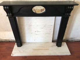 Fireplace Surround and Marble Hearth and Marble Back