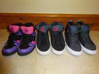 3 pairs of hi-tops