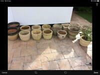 15 concrete garden pots