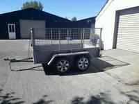 7x4 twin axle trailer