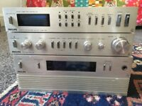 Philips tuner 109, Philips pre - amp 209 and Philips amplifier 309