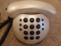 "Geemarc ""Aloha"" vintage silver bowling ball corded telephone"