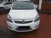 Vauxhall Zafira Exclusive 2014 1.8 White FSH
