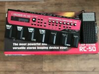 Boss RC 50 loop station in mint condition including Roland volume pedal