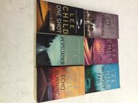 Various Jack Reacher books by Lee Child
