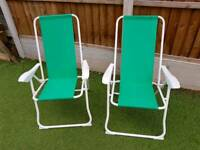 Ikea Recling chairs in green