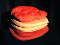 PATIO CHAIR SEAT CUSHIONS. 5 TIE ON SEAT CUSHIONS.