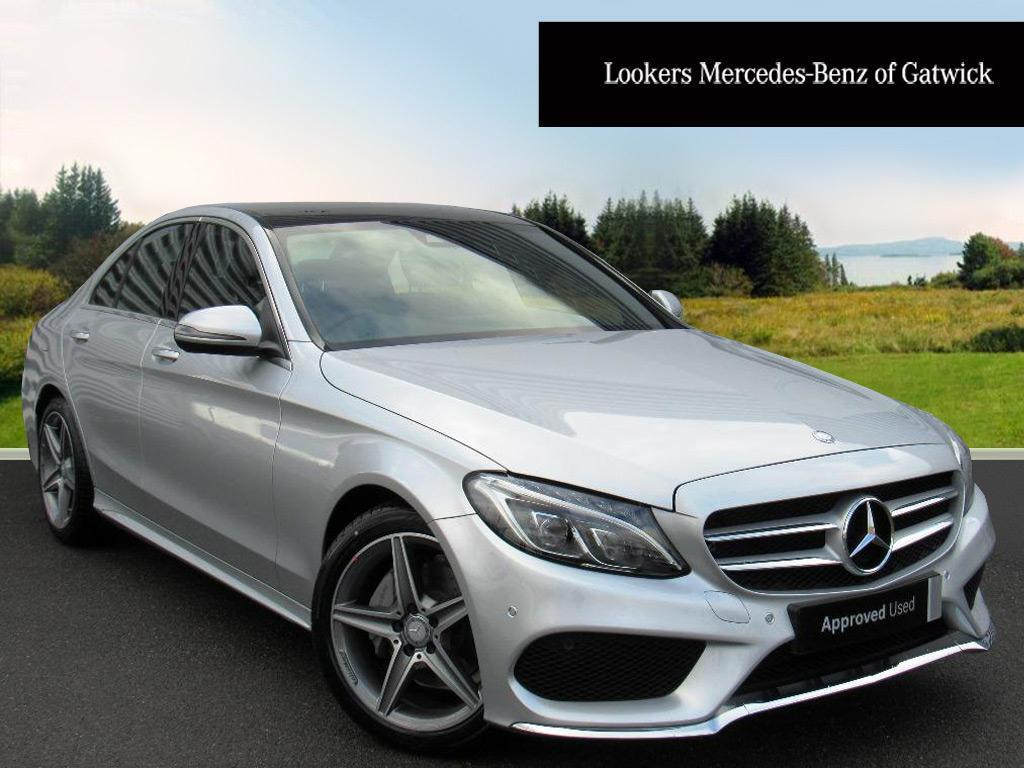 Mercedes benz c class c220 d amg line premium silver for Mercedes benz account