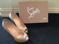 Christian Louboutin shoes. Gorgeous nude/beige heels, match any outfit. Sole scuffed as expected