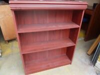Book shelves Small Red wood Four available Delivery Available lg