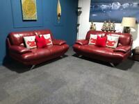 Red Harvey's Islington suite 2 x 2 seater sofas