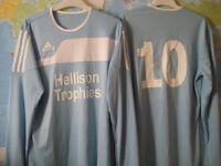 13 ADIDAS FOOTBALL SHIRTS - SMALL MENS - (Kirkby in Ashfield)