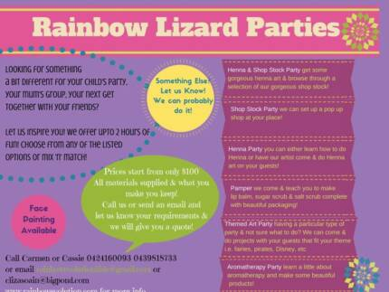 Rainbow Lizard Fun Art & Craft Parties for Kids and Adults! Burpengary Caboolture Area Preview