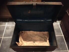 Very old metal trunk FREE DELIVERY MONDAY