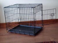 Dog crate. Small. As new. Suitable for a small dog or puppy.