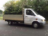 312 mercedes sprinter alloy dropside truck 105000 miles 2.9 turbo diesel 1998