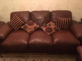 6 seater leather sofa suit in good condition
