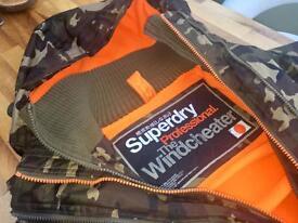 100% Genuine Superdry Professional Windcheater Coat/Jacket Size Small