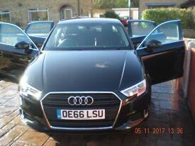 Black Audi A3 TDI Saloon