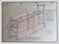RACKING - industrial strength workshop/garage originally made by Mackays