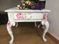 French style solid wood lamp table - Cath Kidston inspired - stunning!