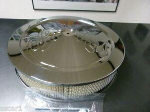 Luftfilter rund chrom Durchmesser 14