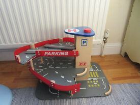 Lovely Car Parking play set up wooden toy with Helicopter pad