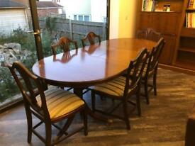 urgent antique vintage regency style oval twin pedestal dining table