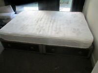 Double bed with draws and Memory foam layered mattress