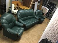 3 seater sofa bed with a reclining chair and 1 seater