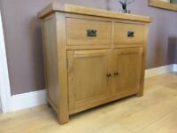 rustic Solid Oak Sideboard , 2 drawer ( oak furniture land )
