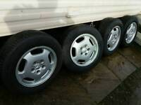 mercedes 15 inch alloy wheels with 205/65/15 tyres VW Camper!!
