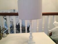 2 Laura Ashley Bacall Silver lampshades