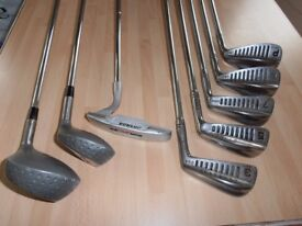 STARTER / HALF-SET of Tiger-Shark 5 Irons, PLUS 2 Fairway Wood's,Putter & Bag.