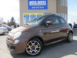 2013 Fiat 500 SPORT Auto. + TOIT, MAGS, CUIR