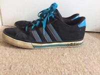 Men's size 10 adidas neon trainers