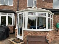 PVC Conservatory frames and door