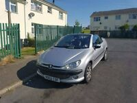 silver peugeot 206 convertible for sale
