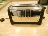 4 slice Dualit Toaster in black and silver