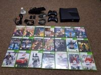 Xbox 360s kinect controllers many accesories and 21 games