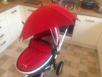 Silver cross surf travel system including carry cot and lots of extras.