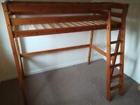 Durham pine high sleeper single bed