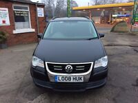volkswagen touran 2008 only 73,175 mile they come whith ful service history