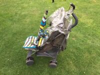 Mamas and Papas Cruise Stroller (blue/green/yellow) - Good condition ONLY £15!