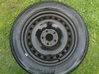 FORD WHEEL + TYRE , 16 INCH GOOD TYRE