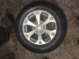 Mitsubishi Barbarian Alloy wheels with tires